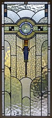Art Deco Stained Glass in a Melbourne House (colros) Tags: melbourne stainedglass artdeco