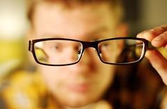 selfportrait glasses frames dof geek bokeh newglasses iso1600 highiso mll3 nikkor50mmf18d 365days explored d80 lownoise sveinhalvorhalvorsen hugoboss0036