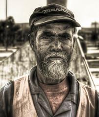 Portrait of Wisdom (Khaled A.K) Tags: portrait man worker jeddah saudiarabia khaled hdr gardener canoneos400d aplusphoto