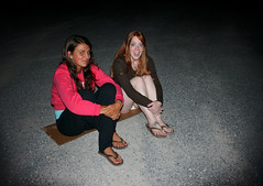 CardboardBench (Symic) Tags: pink red summer orange brown white beauty youth night dark fire utah pretty head group pit redhead flame candace cardboard bonfire together crew flip sit flops brunette knees chill gravel teenage barbra hanks