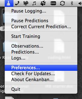 Genkanban: Status menu