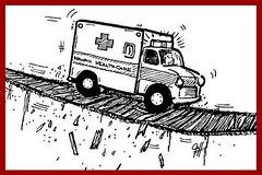 healthcare_crisis? (PBS Hawaii org) Tags: illustration hawaii cartoon ambulance healthcare editorialcartoon pbshawaii jefflangcaon danboylan islandinsights