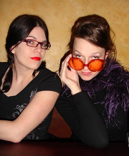 Kim and Kyliemac, looking like dominatrix!
