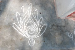 Kolam (kimberlyblessing) Tags: india tamilnadu kolam dakshinachitra