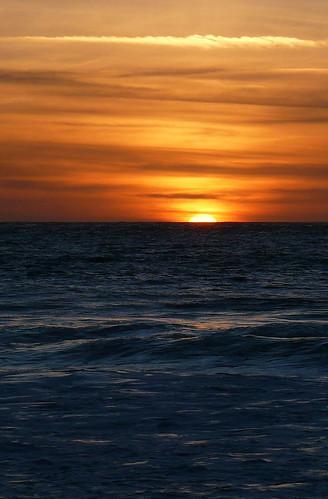 Sunset - Baie d'Ecalgrain