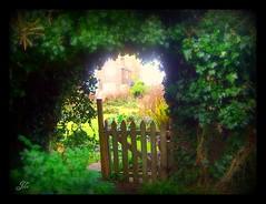 The Secret Garden (bonksie61) Tags: garden gate smörgåsbord digitalcameraclub mywinners avision almostanything goldstaraward explorewinnersoftheworld amazinglyaxed