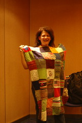 Lorie receives her afghan