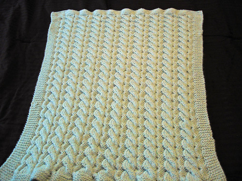 Machine Knit Baby Blanket Pattern : Cable Blanket Pattern - Pattern Collections