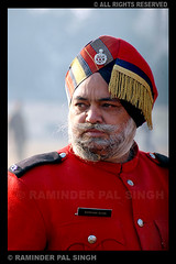 Darshan Singh (Raminder Pal Singh) Tags: show red india color colour look vertical metal beard eyes dress d70 nikond70 band police parade moustache age button stare perform wisdom punjab amritsar personnel republicday attire raminder