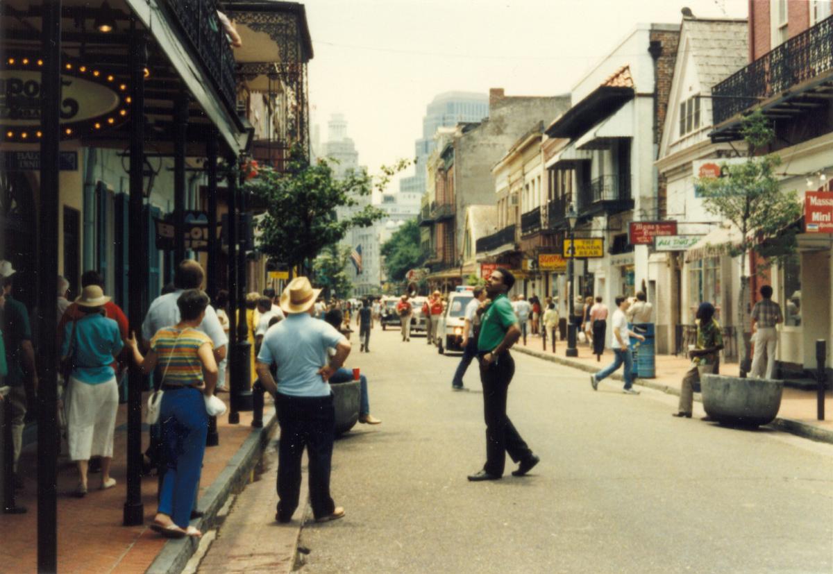 Bourbon Street, New Orleans, 1988