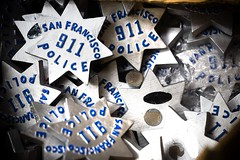 San Francisco 911 (Thomas Hawk) Tags: sanfrancisco california usa san francisco chinatown unitedstates unitedstatesofamerica 911 police badge badges sfpd photowalking7