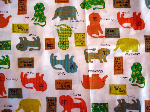vintage zoo fabric