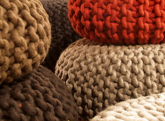 Dutch design (kwikzilver) Tags: city urban texture wool colors dutch amsterdam design matthijsborghgraef interior nederland explore textile colored urchin pouf pakhuis flocks handknitted dezwijger knitwear saloneinternazionaledelmobile tuttobene woolen kwikzilver christienmeindertsma
