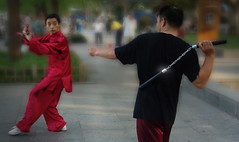 Self defense - 8 AM in the streets of HANGZHOU  China (gigilivorno) Tags: china hangzhou livorno thaichi nunchaku blueribbonwinner artimarziali anawesomeshot