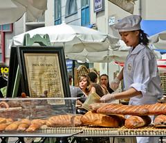French breads (Ramon2002) Tags: woman france bread lightroom mulhouse 5photosaday ramon2002