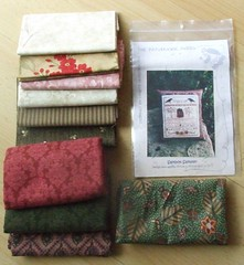 Lovely Fabrics and Saltbox Sampler from Kay!!