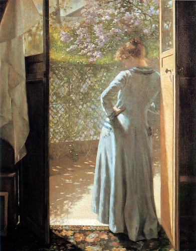 Eva Bonnier At the Studio Door