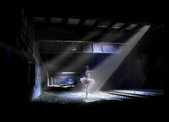 subterranean dance (Rick Elkins) Tags: newyorkcity railroad light newyork photoshop dark underground ballerina bravo manhattan tracks tunnel dancer beam soe tutu themoulinrouge railroadtunnel firstquality xoxoxox fpg freedomtunnel fivestarsgallery mywinners platinumphoto anawesomeshot superaplus aplusphoto infinestyle diamondclassphotographer flickrdiamond betterthangood theperfectphotographer thegardenofzen artofthelight thegoldendreams vision100 rickelkins