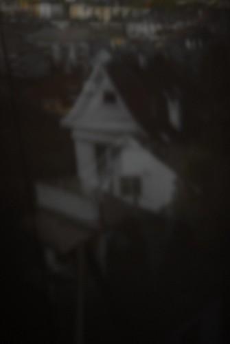 Camera obscura-fotografi av et hvitt hus