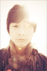 | Jacky Sun. (Alli Jiang) Tags: china park light boy sun man cute guy fashion backlight asian 350d spring soft glare post chinese handsome naturallight cutie adobe processing backlit process tone edit asianboy 2010 lightroom lensglare lakebalboa allijiang warmjackysun