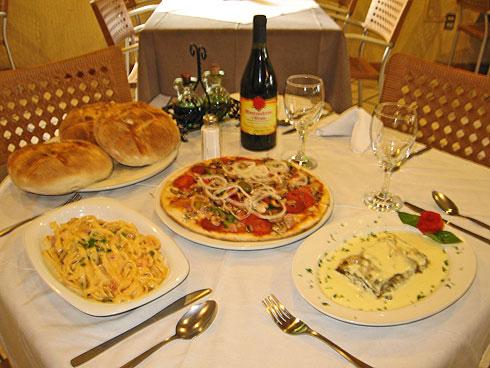 comidas y copas en italia