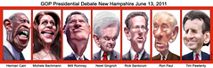 GOP Presidential Debate June 13, 2011 in New H...