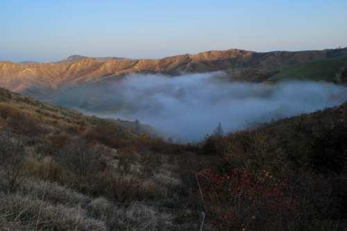 Calanchi plio-pleistocenici tra la Val Lamone e la Val Sintria, foto di Massimiliano Costa