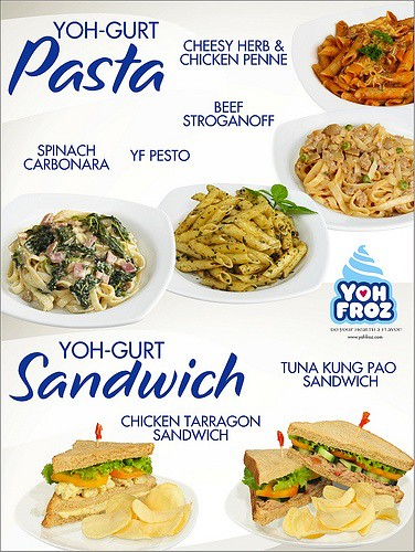 Yoh-Gurt Pasta and Sandwich