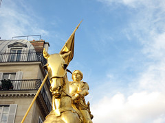 Jeanne d'Arc (Steve and Sara) Tags: paris france statue gold jeannedarc
