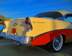 As American as Apple Pie (oybay) Tags: arizona chevrolet belair car classiccar automobile rear chevy soe taillights redandwhite twotone whitewalltires blueribbonwinner mintcondition chebby abigfave