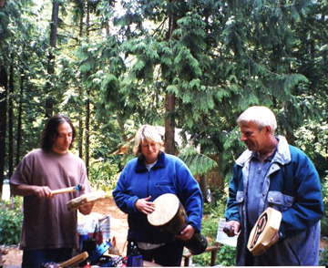 Drumming in the Woods
