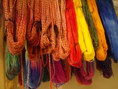 Yarns on the drying rack