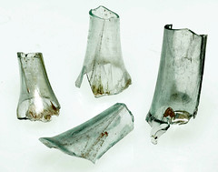 Roman glass; long moils