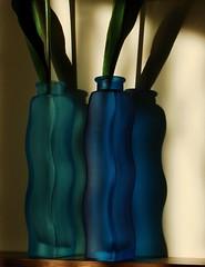 Nevermind the flowers... (Claudia1967) Tags: blue light shadow color ikea 50 vases imaginarium artisticexpression interestingness245 i500 mywinners abigfave abigfav aplusphoto thegardenofzen explore20071203