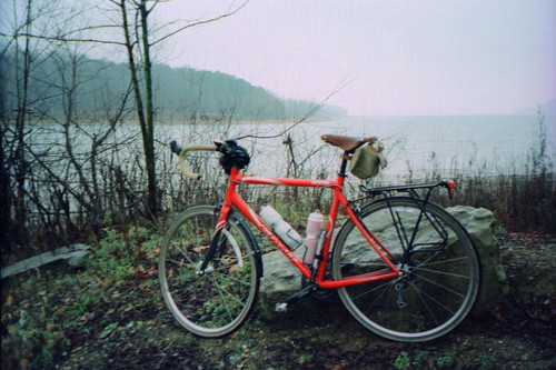 My bicycle by Lake Monroe