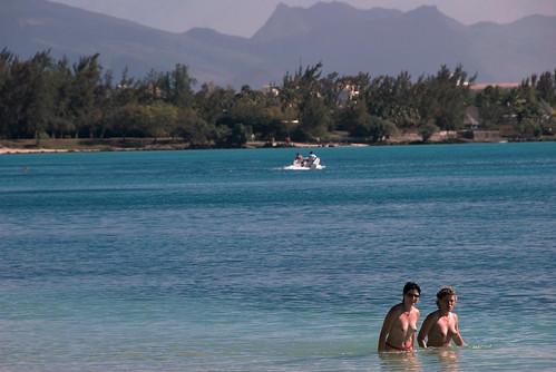 Mauritius topless beach