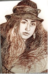 Alessandra (superpralinix) Tags: woman portraits drawing femme dessin draw crayon matita carboncino