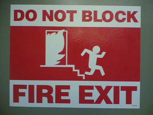 Do Not Block Fire Exit