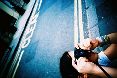 (edscoble) Tags: road camera blue summer london film 35mm lomo lca xpro lomography xprocess cross little hill ct slide soviet portobello 100 kensington process agfa russian notting leonie compact automat peruvian incan 32mm precisa kompakt minitar cicirello