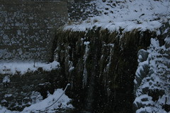 Frozen waterfall (Zoey Hardwick) Tags: trees winter white snow mountains cold ice beautiful landscape snowflakes switzerland chair focus scenery frost afternoon skiing lift jan snowy stones 2008 magical reen airolo zoeyhardwick