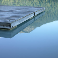 Wooden dock on Lake Louise (Melissa Mercier www.melissamercier.com) Tags: blue lake canada nature square one wooden still dock perfect quiet relaxing calming peaceful melissa calm hasselblad louise zen organic phase stillness mercier thisisnow