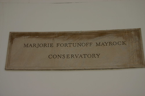 Mayrock Conservatory Plaque