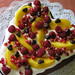 Chocoholic Cake with Mango and Pomegranate