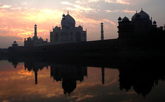 Winter Sunrise at Taj (Explore) (Koshyk) Tags: winter sky reflection love monument sunrise fantastic taj tajmahal agra marble yamuna kachhpur mywinners abigfave avision superbmasterpiece diamondclassphotographer