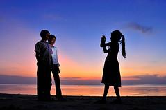 click!!!! (muha...) Tags: blue silhouette evening jump colours flash experiment childrens click maldives obama maale maldiveislands muha haaalif muhaphotoscom llovemypic huvarafushi