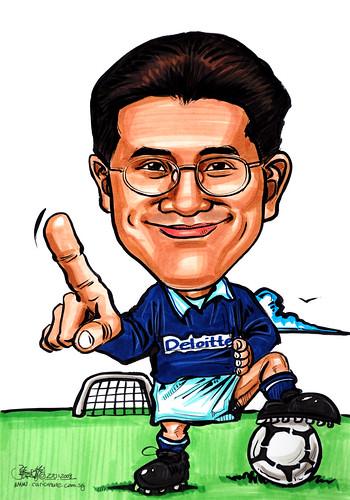 Caricature Deloitte soccer