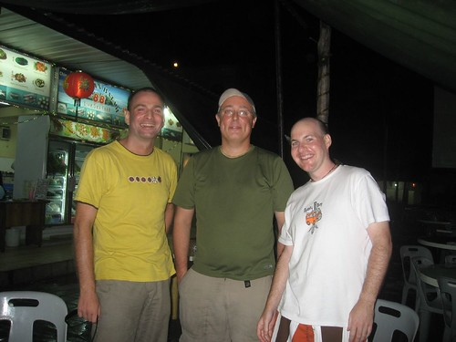 From left . Chris, Gary, and me on Bali, Indonesia