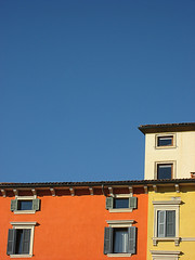 abstract houses (silviacafarelli) Tags: blue houses windows orange abstract color yellow azul square colore blu case ventanas giallo verona colored piazza sequence astratto casas naranja arancione finestre resumen secuencia sequenza colorate br colorphotoaward mcb1603