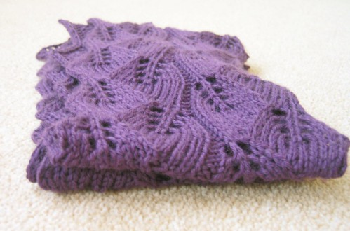 Leaf Lace Scarf Free Knitting Pattern : Lace Knitting Pattern Scarf   Design Patterns