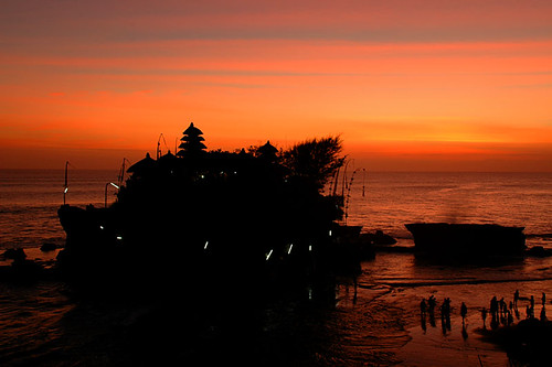 Tanah Lot sunset Bali Indonesia